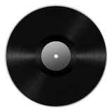 Vinyl Record. Digital creation of a black vinyl record with dynamic lighting Royalty Free Stock Photo