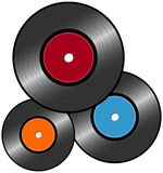 Vinyl Record. On the white background. Vector Stock Photography