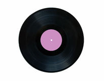 Vinyl record. Isolated on white background Royalty Free Stock Photography
