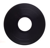 Vinyl record. Photograph of a vinyl record shot in studio against a white background Stock Photography