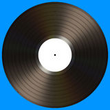 Vinyl Record. With blank label on a blue background. Your text on the white label Royalty Free Stock Photo