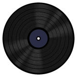 Vinyl Record 33 RPM. A 33 RPM vinyl LP record with a blank label Royalty Free Stock Photo