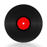 Vinyl Record 33 RPM. Illustration over white Royalty Free Stock Image