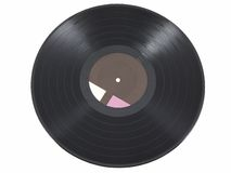 Vinyl Record. Isolated on a white background Stock Image