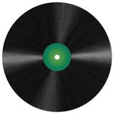 Vinyl record. Isolated illustration (just fill the name Stock Photo