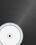 Vinyl Record. Closeup view of a  with empty label Royalty Free Stock Photography