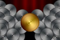 Vinyl Record Background Stock Photo