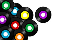 Vinyl record background Stock Image