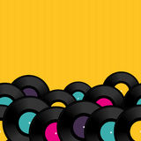 Vinyl record background with space for text Royalty Free Stock Photography
