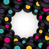 Vinyl record background with space for text Royalty Free Stock Image