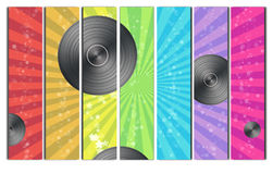 Vinyl Record Backround Royalty Free Stock Images