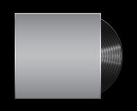 Vinyl record on black background . Eps 10  illustration Royalty Free Stock Images