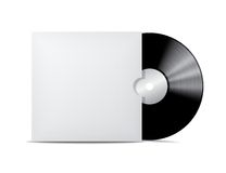 Vinyl record in blank cover envelope. Royalty Free Stock Photos