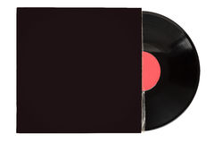Vinyl record in blank cover Royalty Free Stock Photography