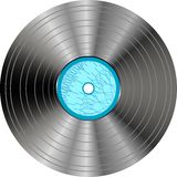 Vinyl record with blue label isolated Stock Images