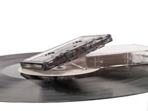 Vinyl record and cassette Royalty Free Stock Images