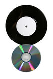 Vinyl record and CD Royalty Free Stock Images