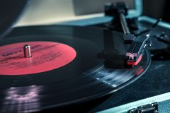 Vinyl record closeup with shine line royalty free stock images