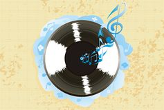 Vinyl record on colorful background vector. Illustration Stock Photo