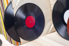 Vinyl record. Copy space for text. Royalty Free Stock Image