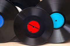 Vinyl record. Copy space for text. Royalty Free Stock Photo