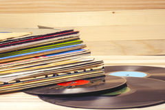 Vinyl record. Copy space for text. Stock Photo