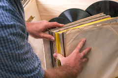 Vinyl record. Copy space for text. Stock Image