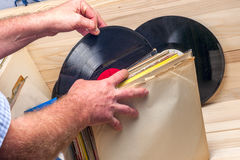 Vinyl record. Copy space for text. Royalty Free Stock Images
