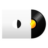Vinyl record with cover Stock Image