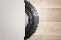 Vinyl record with cover Royalty Free Stock Image