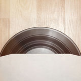 Vinyl record with cover Royalty Free Stock Images