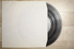 Vinyl record with cover Stock Photo