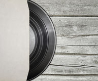 Vinyl record with cover Royalty Free Stock Photography