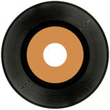 Vinyl Record Cutout. Vinyl Record Isolated on White Background Royalty Free Stock Photography
