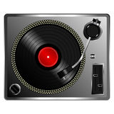 Vinyl record deck Stock Photos
