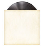 Vinyl record disc LP in paper sleeve Stock Photo