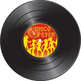 Vinyl record with disco fever stock photos