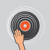 Vinyl Record Hand Scratch Royalty Free Stock Images