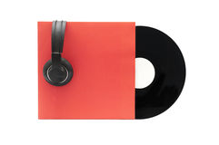 Vinyl Record with Headphones Stock Photography