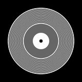 Vinyl record icon. Stock Image