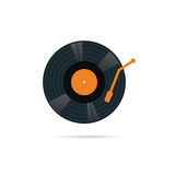 Vinyl record icon in color vector illustration Stock Photography