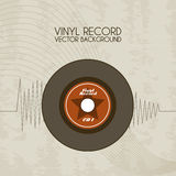 Vinyl record icon Royalty Free Stock Images