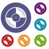 Vinyl record icons set Stock Image