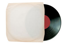 Vinyl record inside a blank sleeve Stock Image