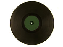 Vinyl record isolated Royalty Free Stock Photography