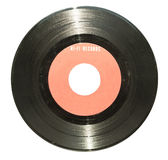 Vinyl record isolated on white Royalty Free Stock Images