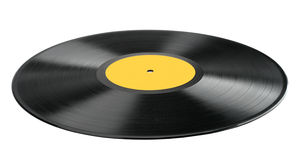 Vinyl record isolated on white background. Royalty Free Stock Images
