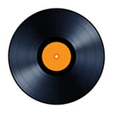 Vinyl record isolated on white background. Royalty Free Stock Photos