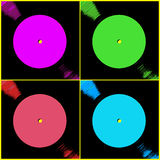 Vinyl Record Labels Royalty Free Stock Image