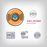 Vinyl record  line art icon Modern vector illustration Royalty Free Stock Image